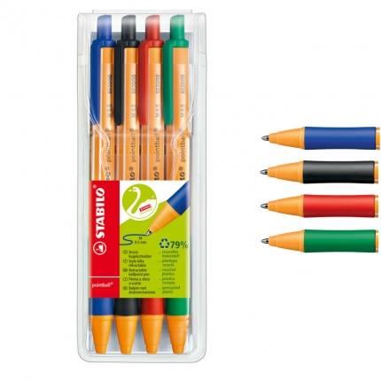 Stabilo pointball Kugelschreiber, 4 Farben