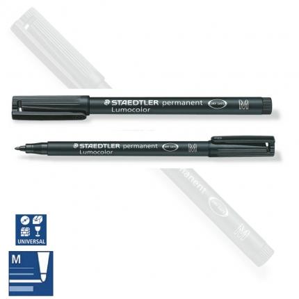 BB Folienstift permanent M, medium, schwarz, Staedtler