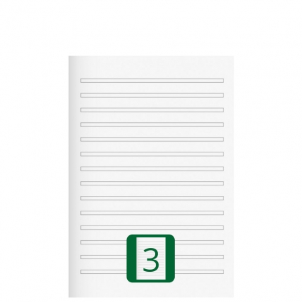 Kleines Schulheft, Lineatur 3, A5