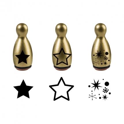 Ministempel Sterne & Kristalle, gold