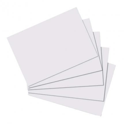 Karteikarten A6, blanko, 100 Stück