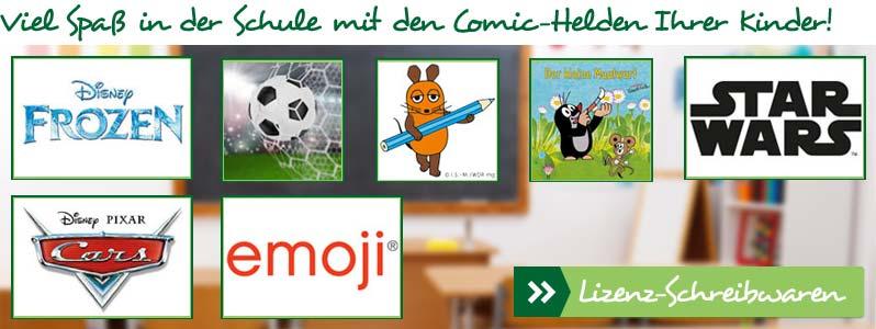 Viel Spaß in der Schule mit den Comic-Helden Ihrer Kinder!