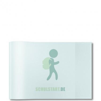 Transparenter Heftumschlag, A5 farblos Querformat, Herma