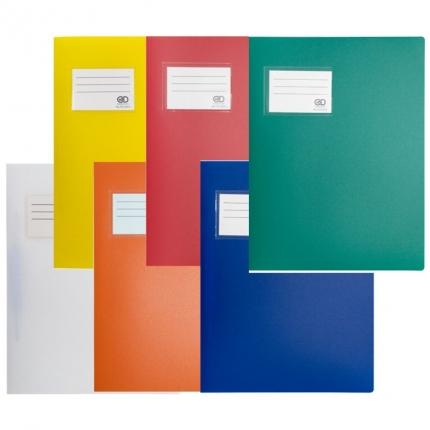 Fester Plastik Schnellhefter: weiß, gelb, orange, rot, blau und grün