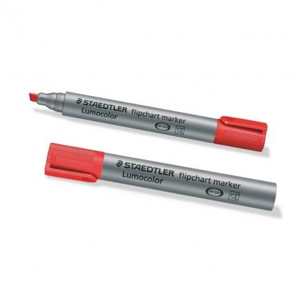 Flipchart Marker, Staedtler Lumocolor rot