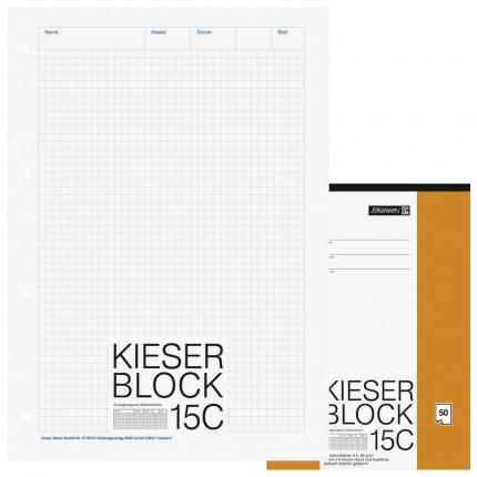 Kieserblock 15C kariert, Brunnen, Lineatur 22, A4
