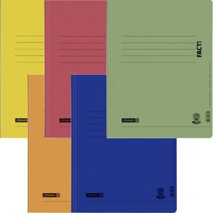 Umweltschutz Schnellhefter Brunnen, 5er Set: gelb, orange, rot, blau, grün