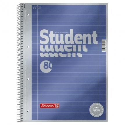 Collegeblock Student A4, Lineatur 27, Brunnen