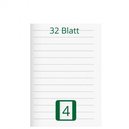 Doppelheft DIN A5, Lineatur 4, 32 Blatt