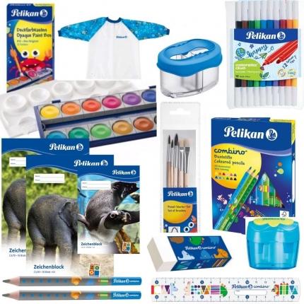 Pelikan Set Einschulung XL, blau: Jumbo Stifte, Farbkasten und mehr
