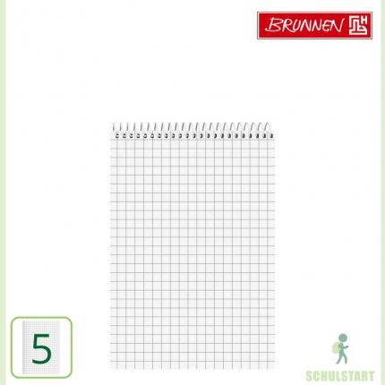 Schulblock Lineatur 5, DIN A5, Brunnen