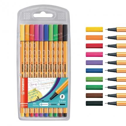 Fineliner Stabilo point 88: 10 Farben