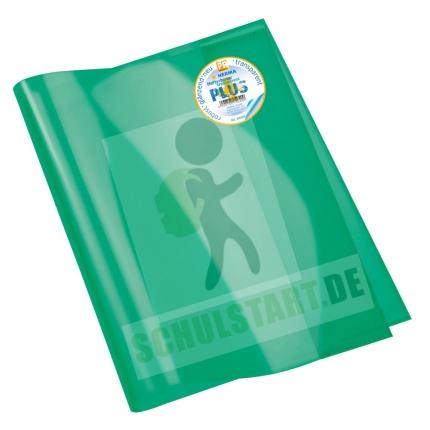 Arbeitsheft Umschlag A4 extrastark, grün transparent, Herma
