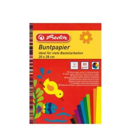4x Bastelpapier Herlitz: Glanz-, Bunt-, Transparent-, Tonzeichenpapier