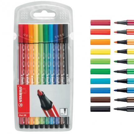 Stabilo Fasermaler Pen 68, 10 Farben