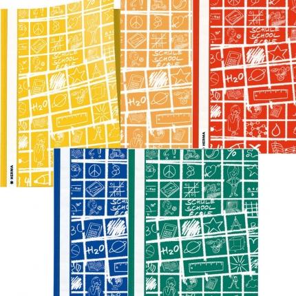Schoolydoo Schnellhefter 5 Farben: gelb, orange, rot, blau, grün - Herma