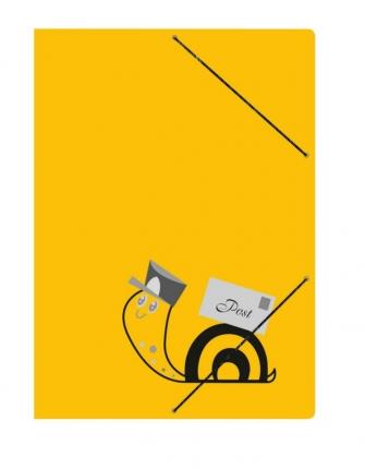 Gelbe Schneckenpost-Mappe, A4