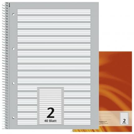Schulblock Lineatur 2, DIN A4, Brunnen