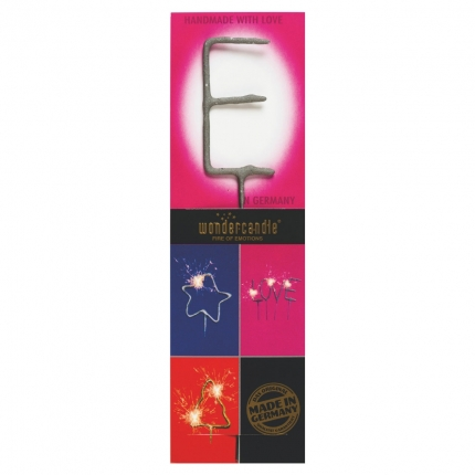 Wunderkerze Buchstaben: E