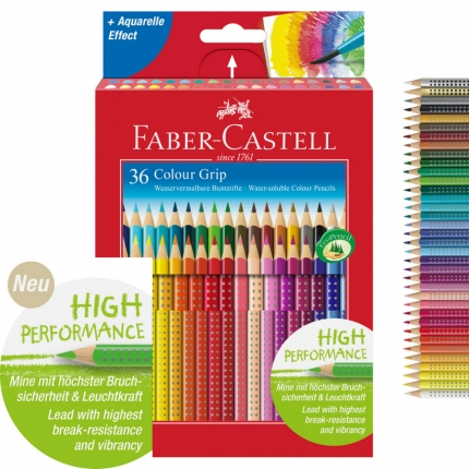 Faber-Castell Colour Grip Buntstifte, 36er Pack