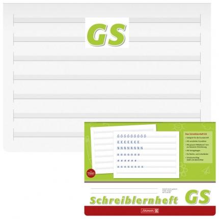Schreiblernheft Grundschrift GS, Brunnen, A4 Querformat