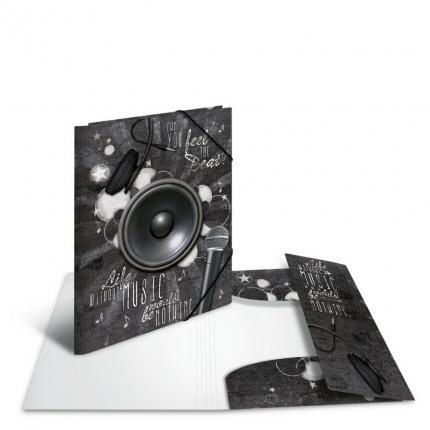 Kunststoffmappe A4, PP, Musik