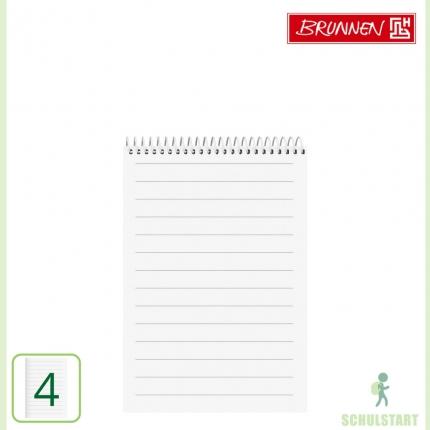 Schulblock Lineatur 4, DIN A5, Brunnen