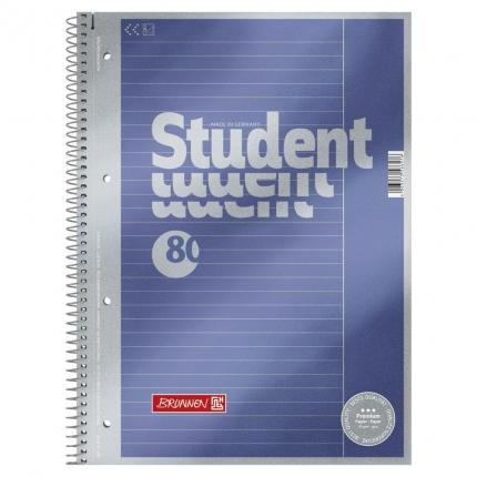 Collegeblock Student A4, Lineatur 25, Brunnen