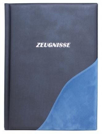 Idena Zeugnismappe, blau mit Velours
