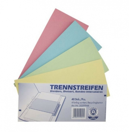 Trennstreifen farbig, Recyclingkarton, 40 Stück