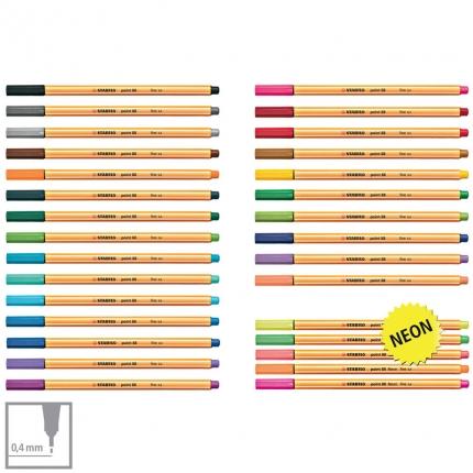 Stabilo Fineliner in 30 Einzelfarben