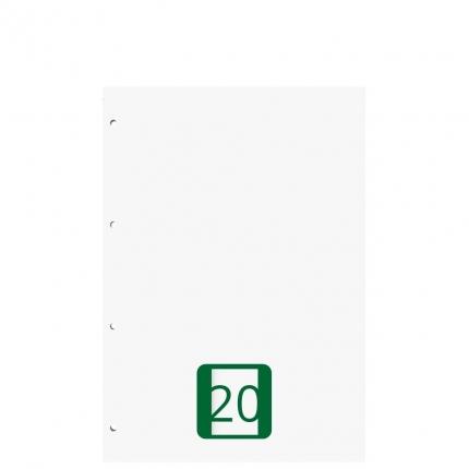Ringbucheinlagen A5 blanko, Lineatur 20, 50 Blatt