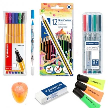 Stifte-Set ab 5. Klasse für Linkshänder: Viele Stifte, Textmarker etc.