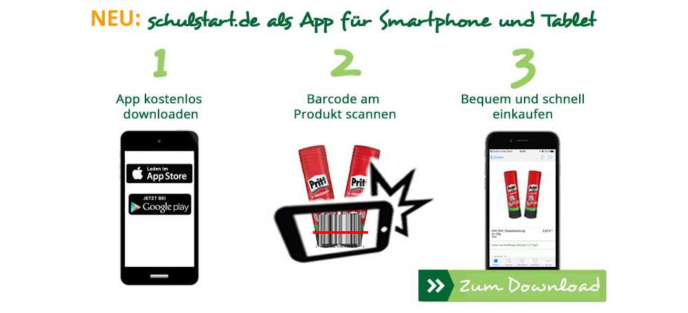 Schulstart als App für Ihr Smartphone und Tablet