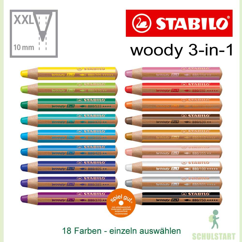 Stifte Für Kleinkinder : buntstifte f r kleinkinder in 18 farben stabilo woody ~ Watch28wear.com Haus und Dekorationen