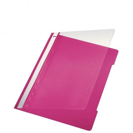 Plastik Schnellhefter pink, Leitz