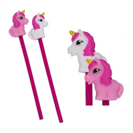 Einhorn Bleistift, rosa und weiß