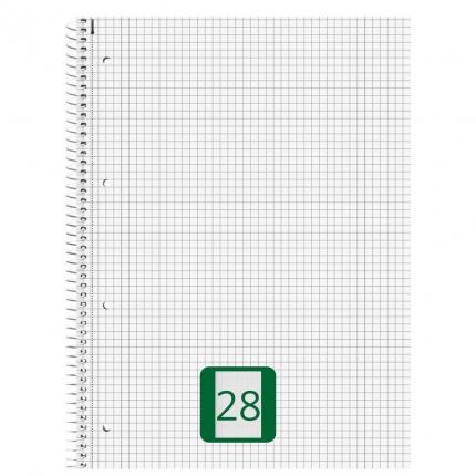 Collegeblock kariert, Lineatur 28, 80 Blatt