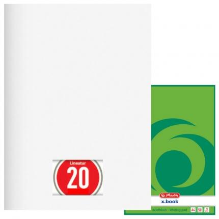 Briefblock blanko, 50 Blatt ungelocht (A4, Lineatur 20, Herlitz)