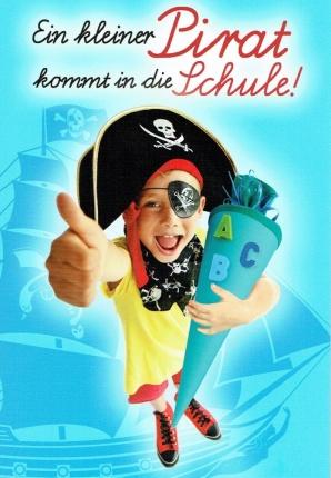 Einschulungskarte Pirat