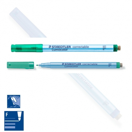 BB Lumocolor correctable F, fein, grün, Staedtler