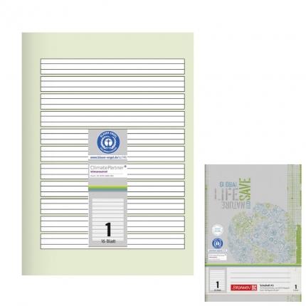 Recyclinghefte A5, Lineatur 1, Brunnen