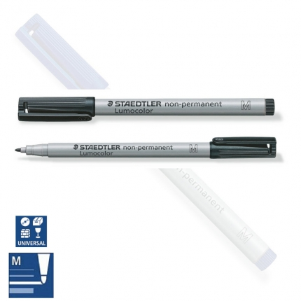 BB Folienstift non permanent M, medium, schwarz, Staedtler