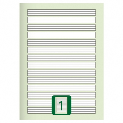 Großes Schulheft, Lineatur 1, A4