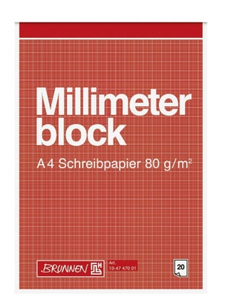Millimeterpapier Brunnen