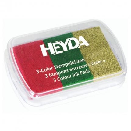 Stempelkissen Gold, Rot, Grün