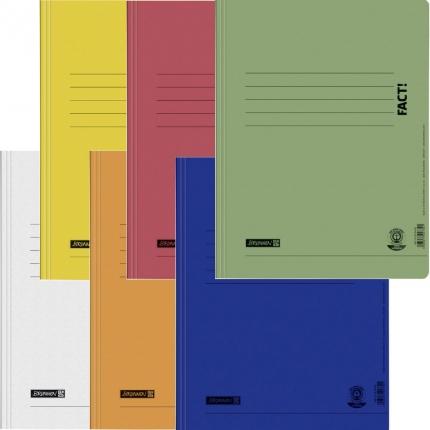 Umweltschutz Schnellhefter Brunnen, 6er Set: weiß, gelb, orange, rot, blau, grün
