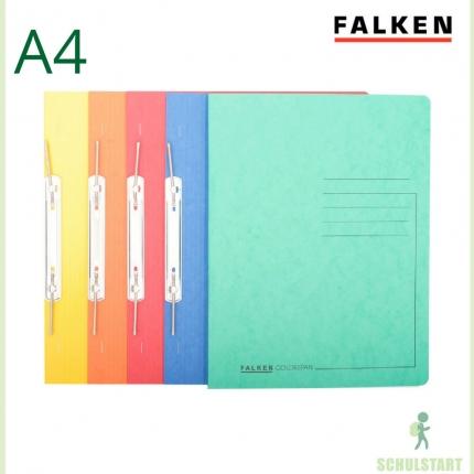 Spiralhefter Falken, 5er-Set: gelb, orange, rot, blau, grün