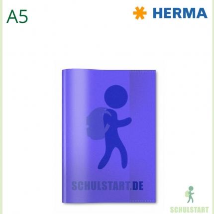 Transparenter Heftumschlag, A5 violett, Herma