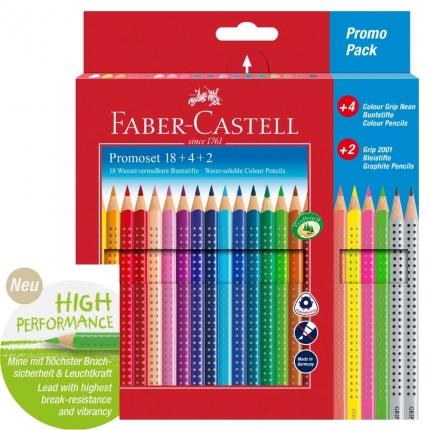 Faber-Castell Colour Grip Bunt- und Bleistiftset: 18 + 4 + 2